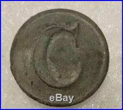 Dug Civil War Confederate Cavalry Button HT&B Manchester backmark