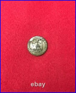 Dug Confederate Silvered Coat Virginia Civil War Button CS Trenches Petersburg