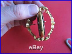 Estate Hair Pin Pendant Brooch Jewelry Ambrotype Possibly Confederate Civil War