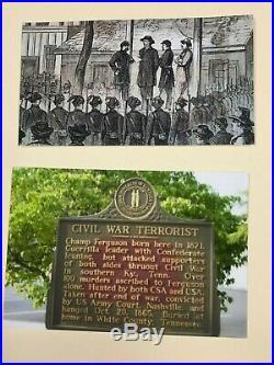Exceedingly Rare Champ Ferguson Execution Letter Civil War Confederate Terrorist
