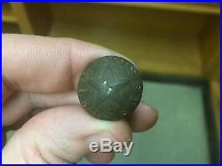 Exceedingly Rare Confederate Mississippi Civil War Star Coat Button Full Shank