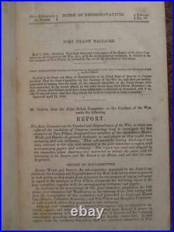 Fort Pillow Massacre CIVIL War Confederate War Crimes 1864 First Edition