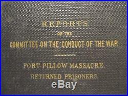 Fort Pillow Massacre First Edition 1864 CIVIL War Confederate War Crimes