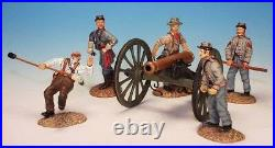 Frontline American Civil War Confederate Cannon with 5 Crew Firing ACG1 Artillery