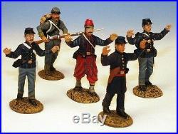 Frontline Civil War Prisoner Set 4 Union Prisoners Confederate Guard ACI16