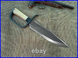Gaucho Knife D Guard Bowie Confederate CIVIL War Combat Cowboy Montain Man