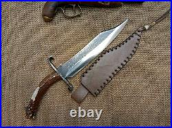 Gaucho Knife Musso Bowie Confederate CIVIL War Combat Cowboy Montain Man