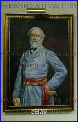 General Robert E. Lee Standing Official Painting American Civil War Confederate