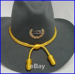 Gray Civil War Confederate Rebel era style Cavalry hat Sizes 7 1/4 to 7 3/4