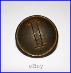 H. T. & B Manchester Confederate Civil War Button Infantry Stippled I HT&B