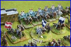 HUGE WELL PAINTED 15mm ACW AMERICAN CIVIL WAR CONFEDERATE ARMY