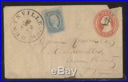 HUNTSVILLE Missouri/Mo Civil War Confederate Stamped Envelope 1860's