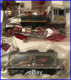 Hawthorne Village Civil War Confederate Express Train Set Cars And Track NIB