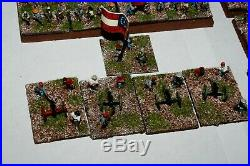 Huge Beauitfully painted 10mm Confederate ACW American Civil War army 250 pieces