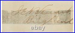 J. E. B. Stuart RARE Civil War-Dated Ink Signature with Rank Confederate General