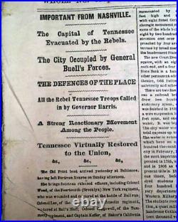 JEFFERSON DAVIS Confederate President Inauguration 1862 Civil War MAP Newspaper