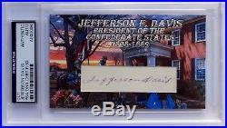 Jefferson Davis Confederate President #32 ESI Civil War PSA/DNA AUTOGRAPH CARD