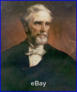 Jefferson Davis President of Confederate States of America Civil War Painting