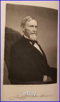 Jefferson Davis RISE AND FALL OF THE CONFEDERATE GOVERNMENT 1881 Civil War CSA