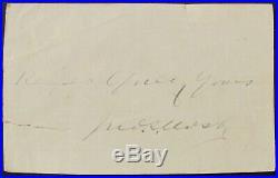 John S. Mosby, Ink Signature & Sentiment Confederate CIVIL War Gray Ghost Rare