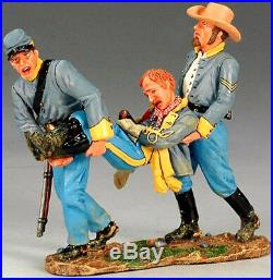 King & Country CIVIL War Cw050 Confederates Carrying Wounded Mib