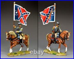 King & Country CIVIL War Cw104 Confederate 29th Texas Flagbearer