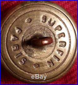 Ky1 Superfin Paris CIVIL War Ky Confederate Kentucky Coat Button
