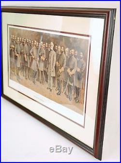 LEE AND HIS GENERALS Civil War Confederate Robert E Lee MATTHEWS FRAMED ART
