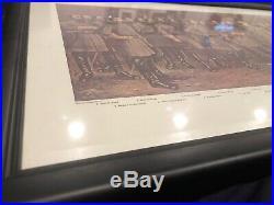 LEE AND HIS GENERALS Civil War Confederate Robert E Lee W. B. MATTHEWS FRAMED ART