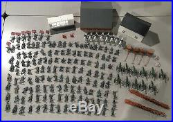 Lot of Civil War Confederate Army Men 181 Pieces Buildings, Cannons, Horses+