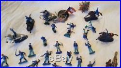 Marx Miniature Civil War Partial SetConfederate + Union Soldiers/Horses/Access