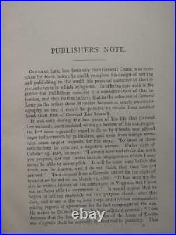 Memoirs Of Robert E. Lee 1887 CIVIL War Confederate General Illustrated