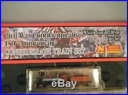 Micro Trains Line N Scale Smithsonian Civil War 150th Ann. Confederate Train Set
