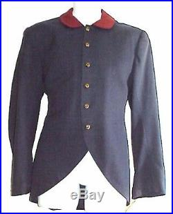 Military 1860's CIVIL War Confederate Cut Away Wool Coat Sz 37 Western Costume