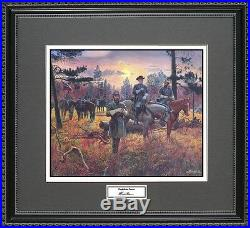 Mort Kunstler CONFEDERATE SUNSET Framed Print Civil War Wall Art Gift