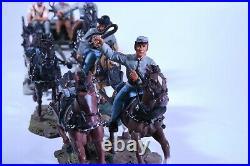NO RESERVE Britains CIVIL WAR 17433 CONFEDERATE SIX HORSE CAISSON SET