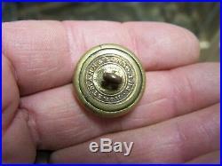Non Dug CIVIL War Confederate Kentucky Military Institute Kmi Coat Button Old
