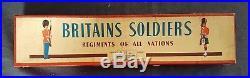 Old BRITAINS 1950s Lead, Civil War Confederate Infantry, 7 Piece Boxed Set #2060