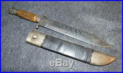 Old Confederate Bowie Knife 3rd Texas Cavalry Officer Silver Pommel Civil War