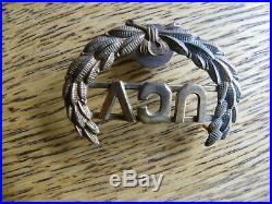 Orig CIVIL War Confederate Veterans Ucv Kepi Or Hat Insignia