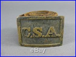 Original CIVIL WAR Confederate States Army CSA Atlanta Style UN-DUG Belt Buckle