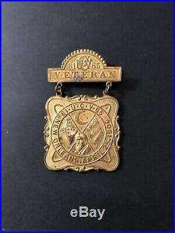 Original CIVIL War 1906 United Confederate Veteran Reunion Medal New Orleans