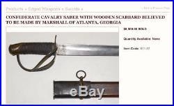 Original Civil War 1840 Confederate Cavalry Saber