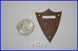Original Civil War C. S. Confederate State Saddle Shield