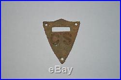 Original Civil War C. S. Confederate State Saddle Shield CS Brass