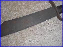 Original Civil War Confederate D Guard Bowie Knife, Blacksmith Made Clip Point