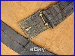 Original Civil War Confederate Georgia State Seal Belt Buckle & Pistol Holster