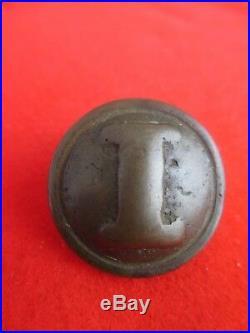 Original Civil War Confederate Non Dug Cast I Coat Button 23mm