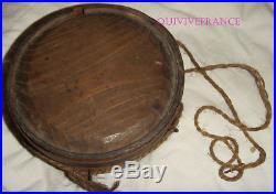 Original Confederate CIVIL War Wooden Drum Canteen