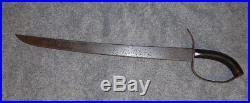 Original Confederate D Guard Bowie Knife 1861 Civil War Era Excellent Condition